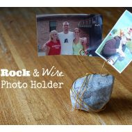 Rock and Wire Photo Holders