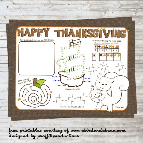 Thanksgiving Placemats are perfect for keeping kids busy while they wait for you to prepare the meal! Print these free Thanksgiving coloring placemats at home!