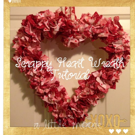 a little moore scrappy heart wreath tutorial