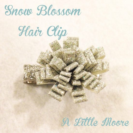 Snow Blossom Clip A Little Moore