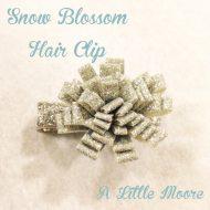 Snow Blossom Hair Clip