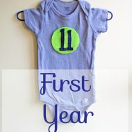 DIY First Year Onesies