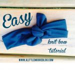 Easy Knit Bow Headband Tutorial