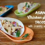 Asian Chicken Salad Tacos with Wontons