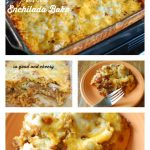 Shredded Beef, Bean and Onion Enchilada Bake