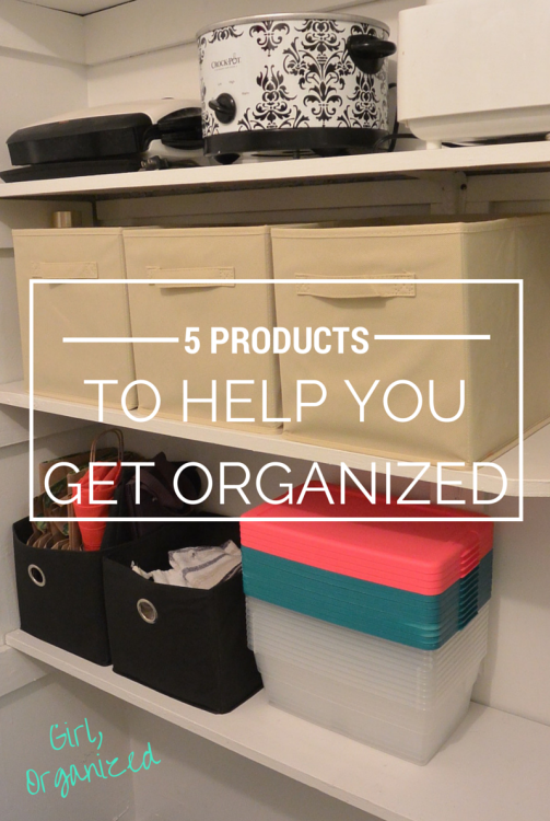 Check out our Top 5 Products For Home Organization!  These simple additions to your home can make a huge difference and are totally affordable!