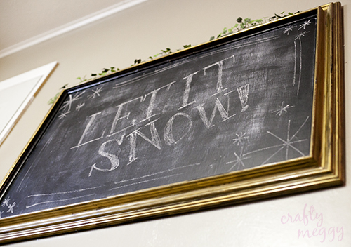Make this super Easy DIY Winter Framed Chalkboard as a great option for winter decoration!  You may also love using it for a shopping list or similar!