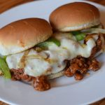 Philly Cheesesteak Sloppy Joe Sliders