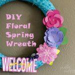 Easy DIY Floral Spring Wreath