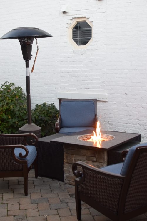 Fire pit at Unwind in Hyde Park Cincinnati