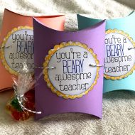 Pillow Box Teacher Gift with Embellishment