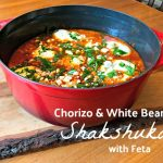 Chorizo and White Bean Shakshuka with Feta
