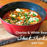 Chorizo and White Bean Shakshuka with Feta