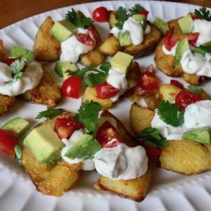 Fiesta Smashed Rose Potatoes