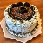Fancy and Simple Mint Chocolate Chip Cake